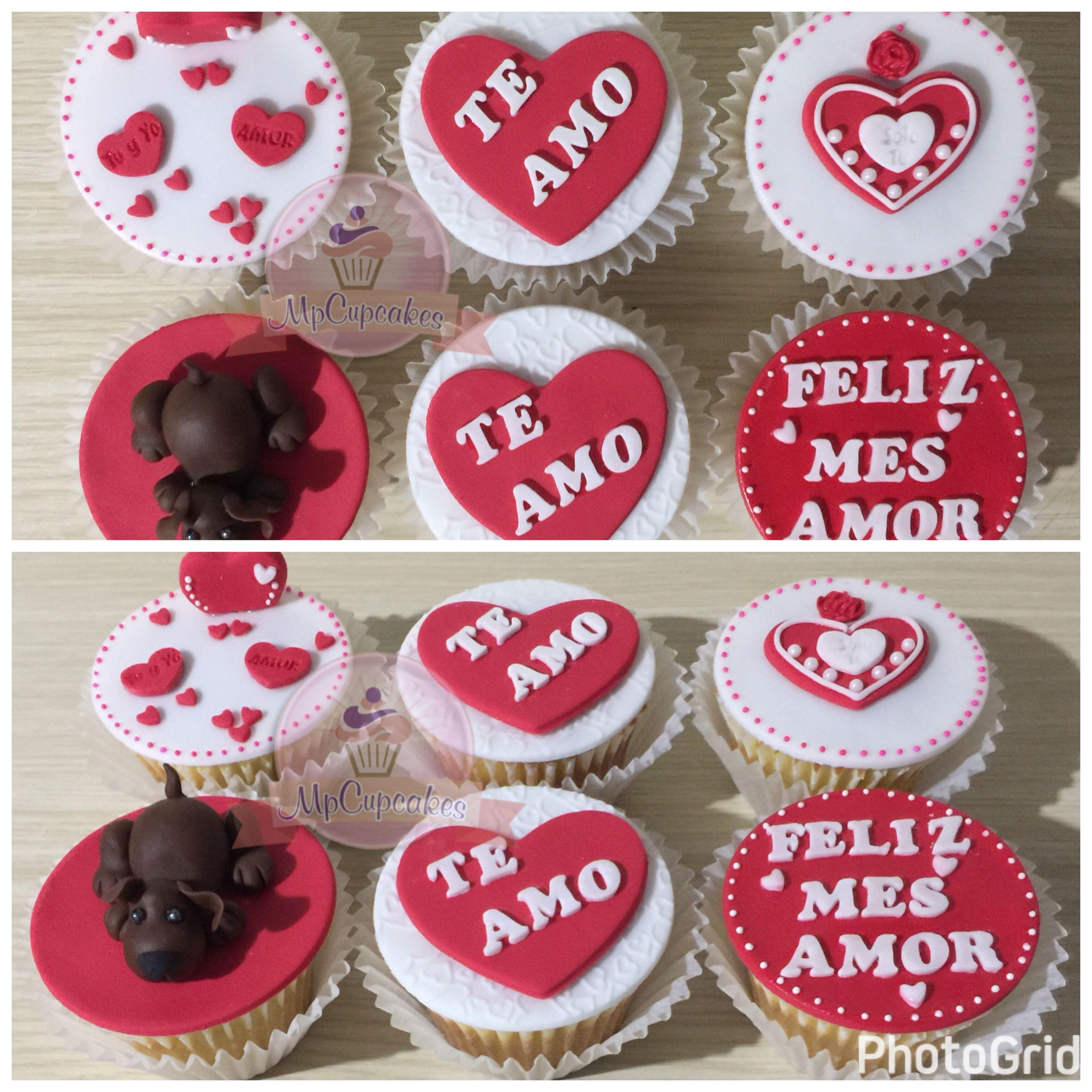 Cupcakes Amor Cupcakes Aniversario Cupcakes Y Tortas Mensajes Y