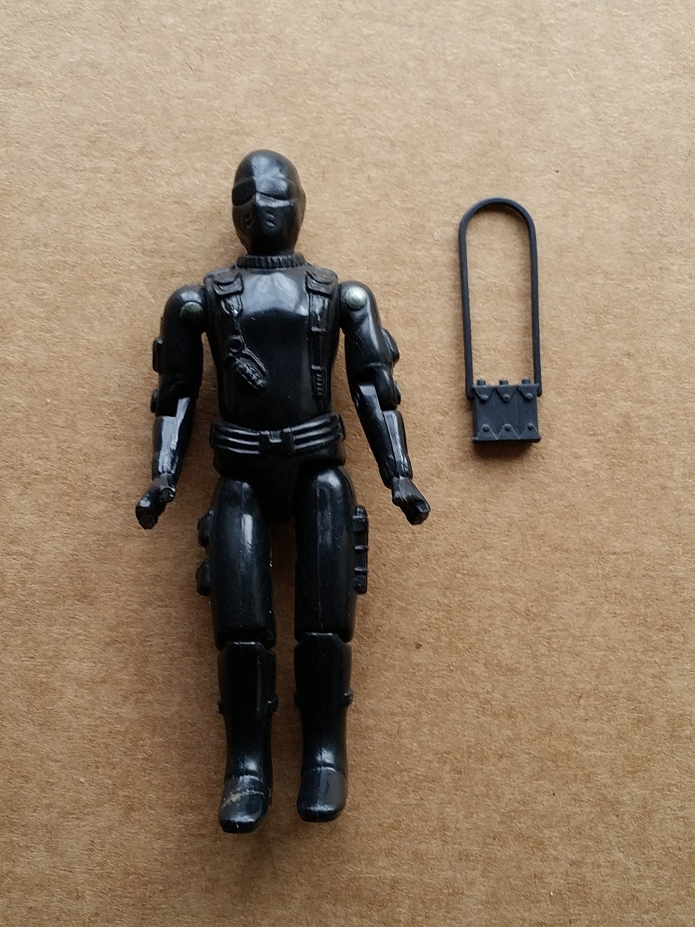 VINTAGE GI Joe BLACK Figure Stand HASBRO Part Great Shape