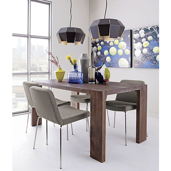 Blox 35x63 Dining Table In Dining Tables Cb2 Dining Table Mango Wood Dining Table Wood Dining Table