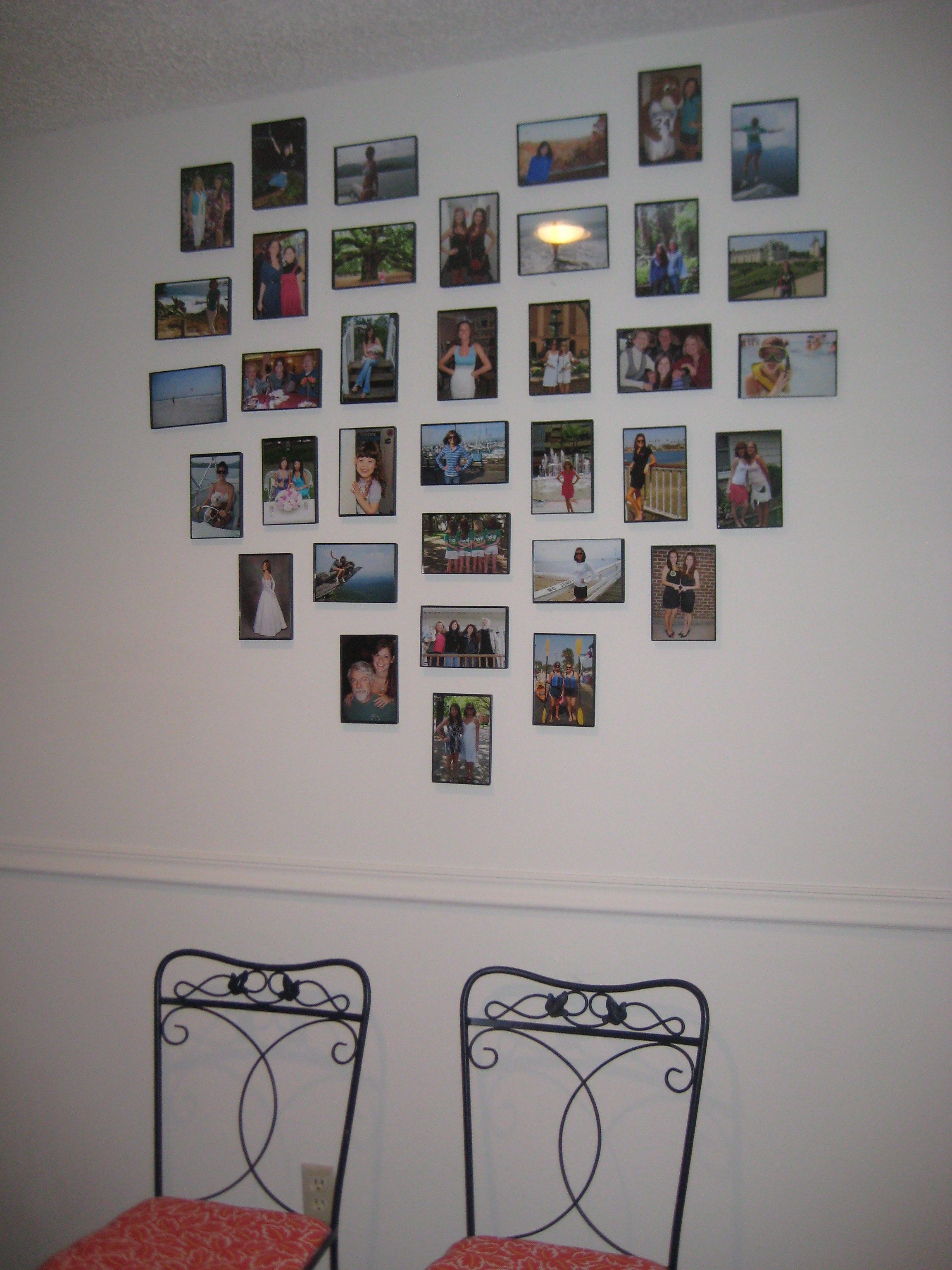How To Diy Hang A Heart Frame Gallery Wall