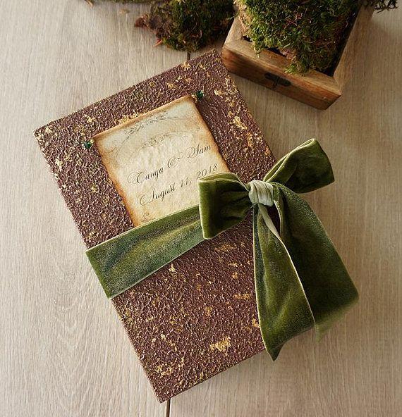 Woodland Wedding Guest Book, Enchanted Forest Photo Album