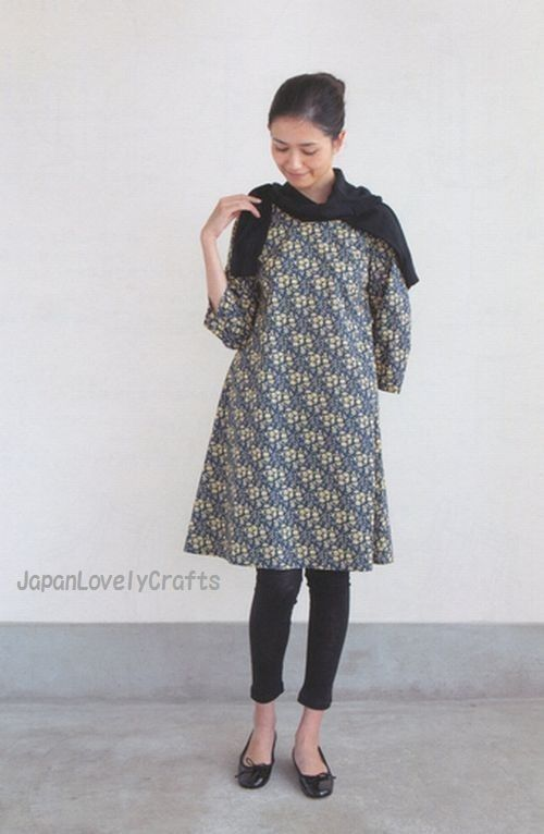Simple Japanese Style Dress, Aoi Koda, Japanese Sewing Pattern Book ...
