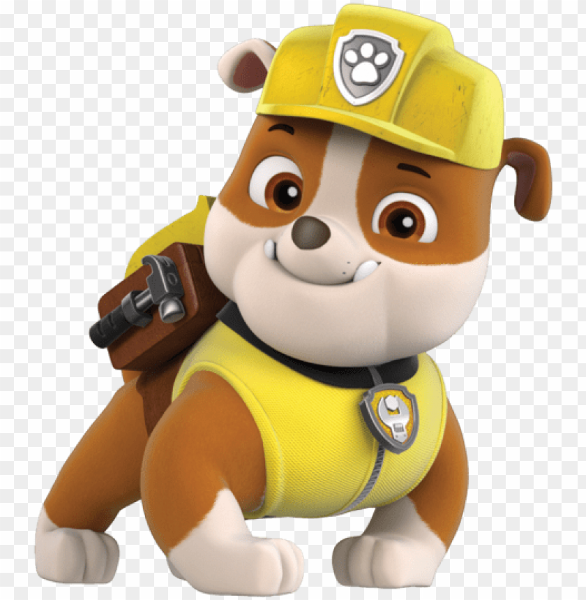 Aw Patrol Rubble Paw Patrol Png Image With Transparent Background Png Free Png Images Rubble Paw Patrol Chase Paw Patrol Paw Patrol Birthday