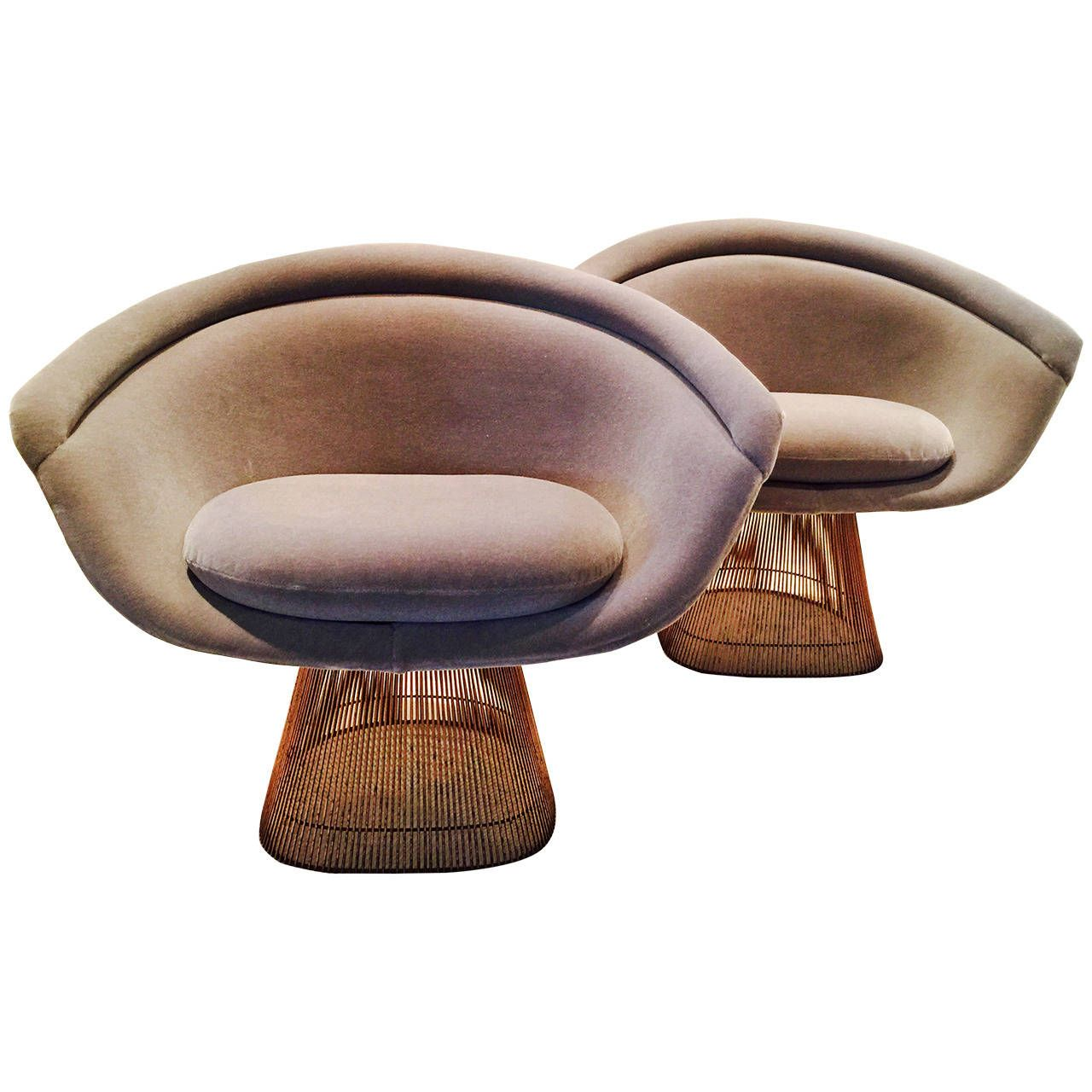 platner furniture. Pair Of Copper Warren Platner Lounge Chairs | See More Antique And Modern Armchairs At Http://www.1stdibs.com/furniture/seating/armchairs Furniture