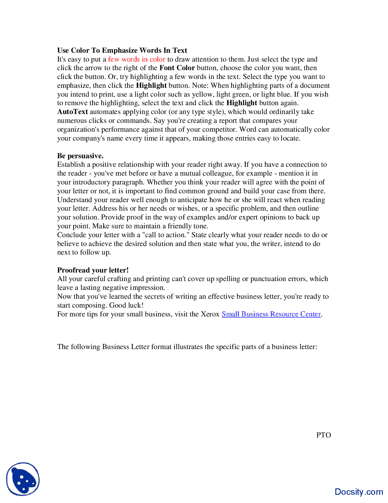 Writing Effective Business Letter Communication Lecture Formal