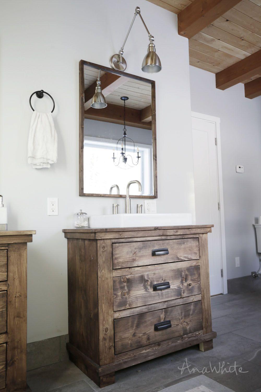 Badezimmer eitelkeiten mit lagerung ana white  rustic bathroom vanities  diy projects  cool diy