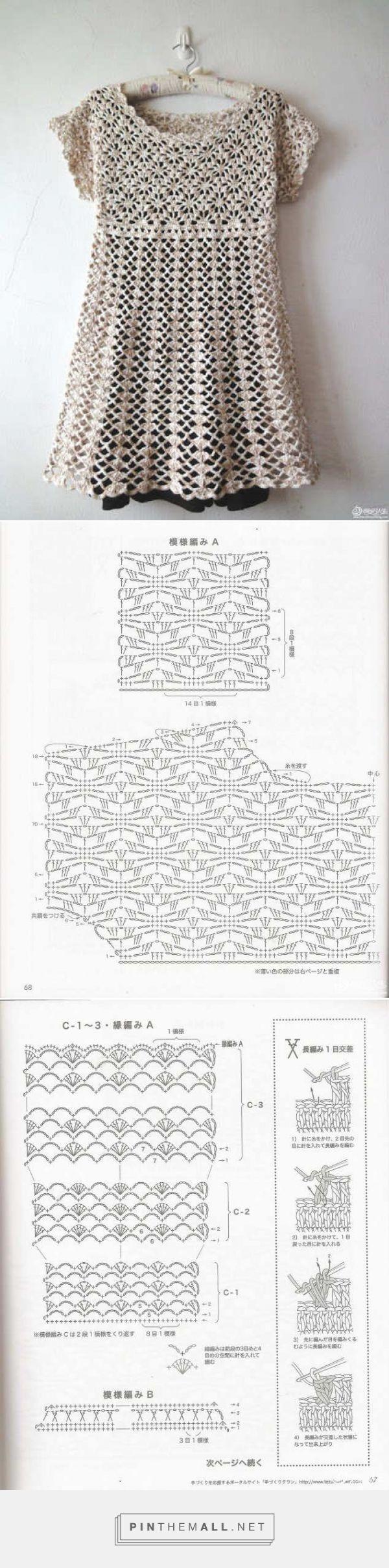 Pretty crochet lace top with spiderweb stitch yoke and shell stitch ...
