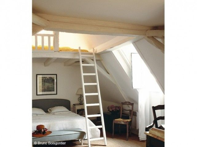 mezzanine sous comble | amenagement combles | Pinterest | Combles ...