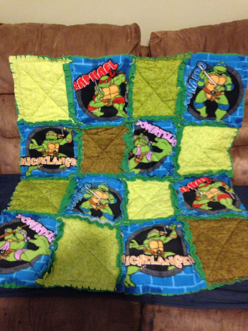 Ninja Turtle Rag Quilt | Homespun Goodies | Pinterest | Rag quilt ... : turtle rag quilt - Adamdwight.com