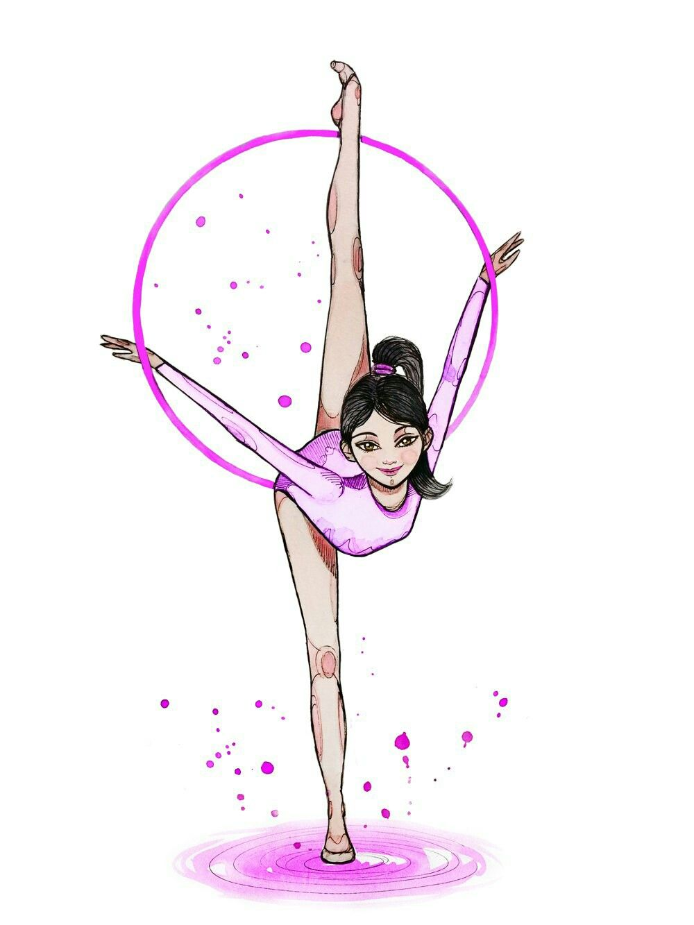картинки гимнасток рисунки что конце хвоста