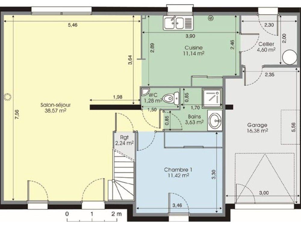 Maison contemporaine 7 Pinterest - plan de maison moderne 3d