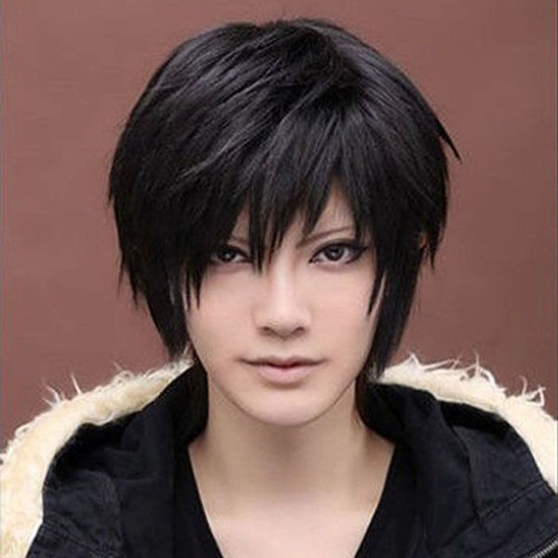 Fashion Anime Anime Handsome Boy Wig Cool Men Cosplay Party Short Hair Full Wigs Ebay Anime Haircut Razored Haircuts Wig Hairstyles