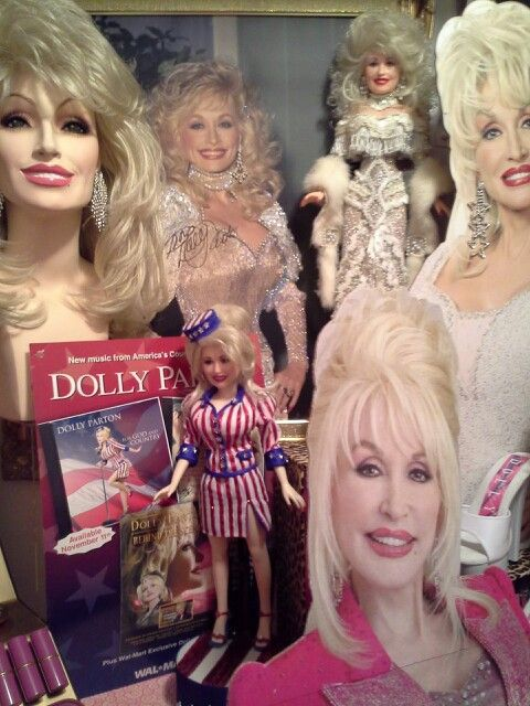 The Dolly doll in white is a replica of the gown Dolly ...