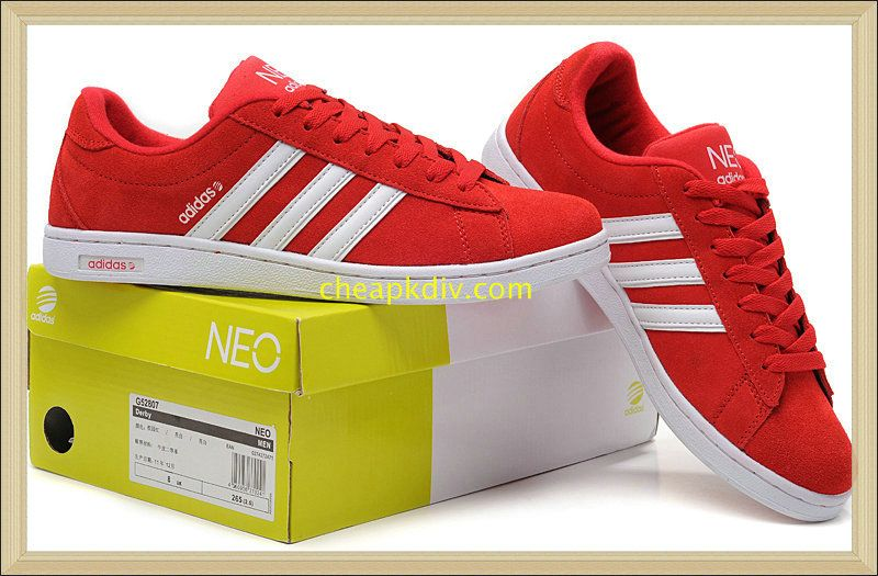 adidas neo red trainers shoes
