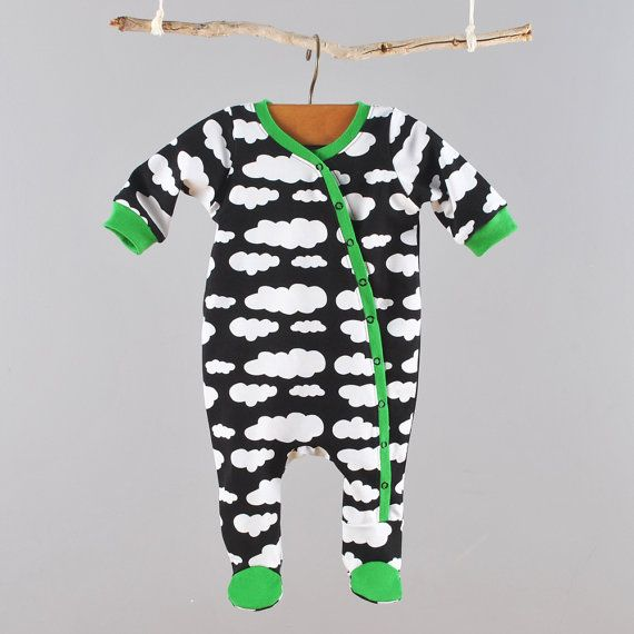 Great kimono style footed coverall pdf pattern for newborns or ...