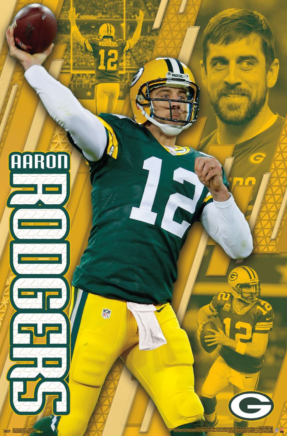 Green Bay Packers Aaron Rodgers Greenbaypackers Nflfootball Nfl Footballposter Footballparty Green Bay Packers Aaron Rodgers Aaron Rodgers Nfl Green Bay