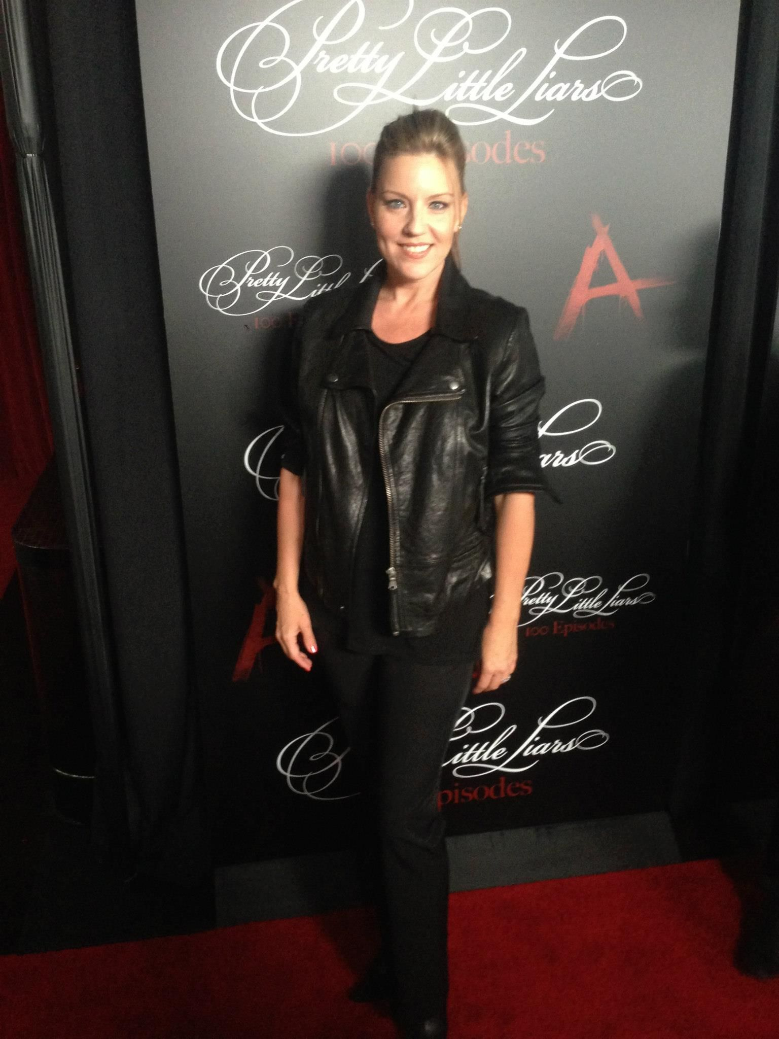 Andrea Parker at the #PLL 100th episode party!