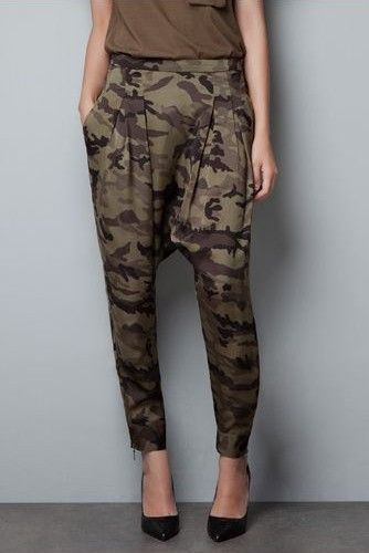 9e51863f298 Zara Camouflage Harem Pants OH the return of camo! How I adore thee!~ Camo  pants have always been on my wishlist