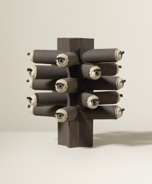 drollgirl - paper sculpture by Irving Harper