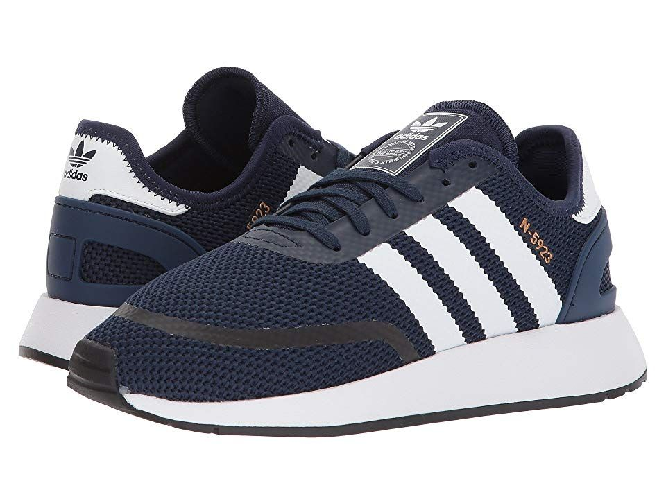 8731e52fba37 adidas Originals Kids N-5923 CLS J (Big Kid) (Collegiate Navy Chalk White)  Boys Shoes. Complete the perfect casual weekend vibe with the adidas  Originals ...