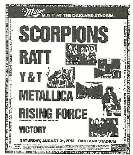 08/31/85 Day On The Green 1985 #1 @ Oakland Stadium, Oakland