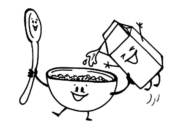 Pin On Breakfast Coloring Pages