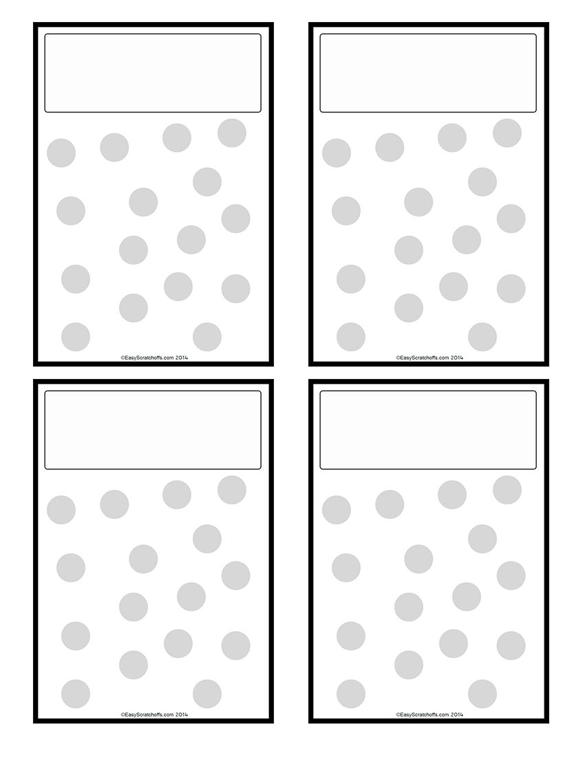 Fundraiser scratch off template free printable – Template for Fundraiser