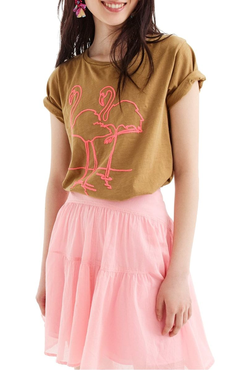 7173688e Free shipping and returns on J.Crew Flamingo Tee at Nordstrom.com. This  supersoft tee with an '80s-inspired graphic is as fun and refreshing as an  umbrella ...