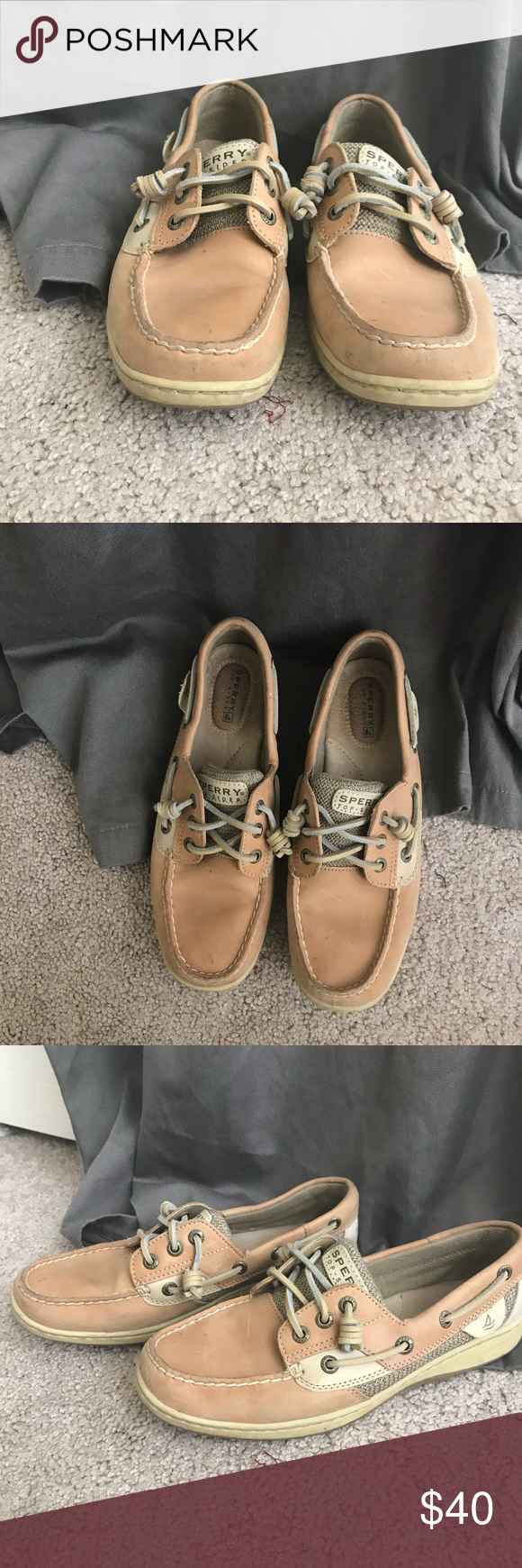 Classic Sperry Topsiders Adorable Sperrys. Barely been worn! Size 7. Open to trades and offers! Sperry Top-Sider Shoes Flats & Loafers