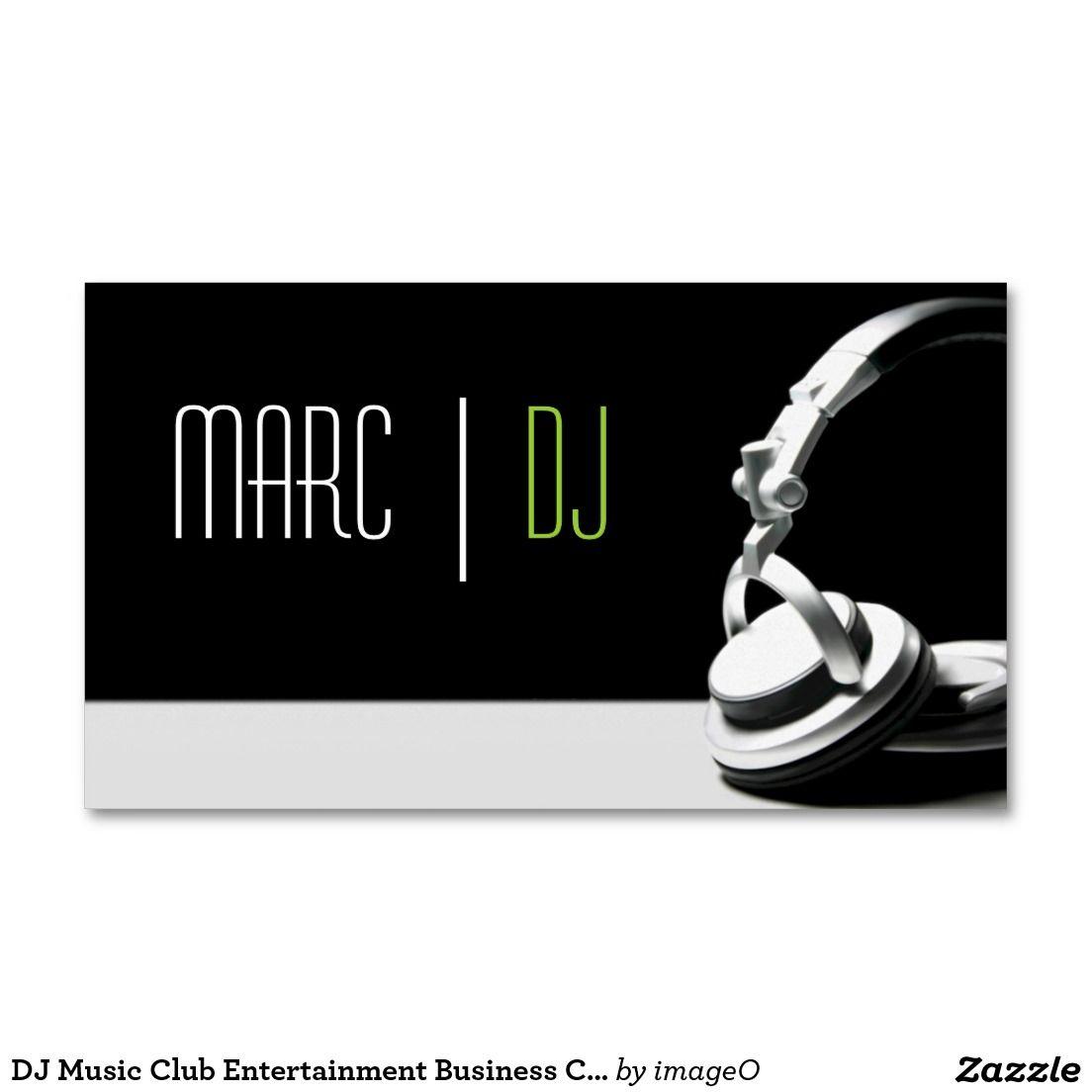 DJ Music Club Entertainment Business Card     | Dj music and ...