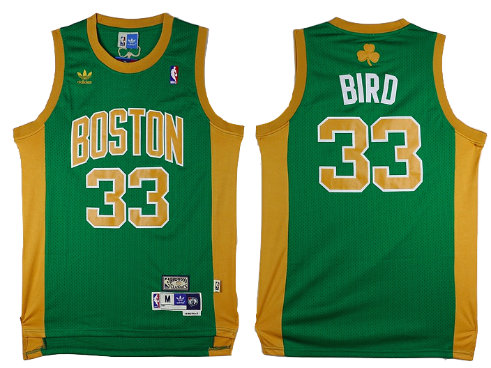 reputable site 45068 5130a Boston Celtics Jersey - Larry Bird Green with Yellow Rev30 ...