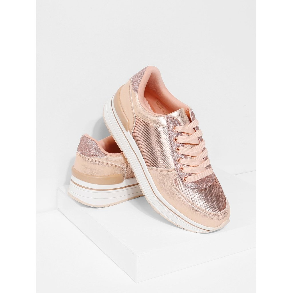 Sequin Panel Lace Up Trainers Women Men Apparel Fitness Outfit Express Sportwear Activewear Tops Fashion Gym Lace Up Trainers Trainers Fashion Lace Up Heels