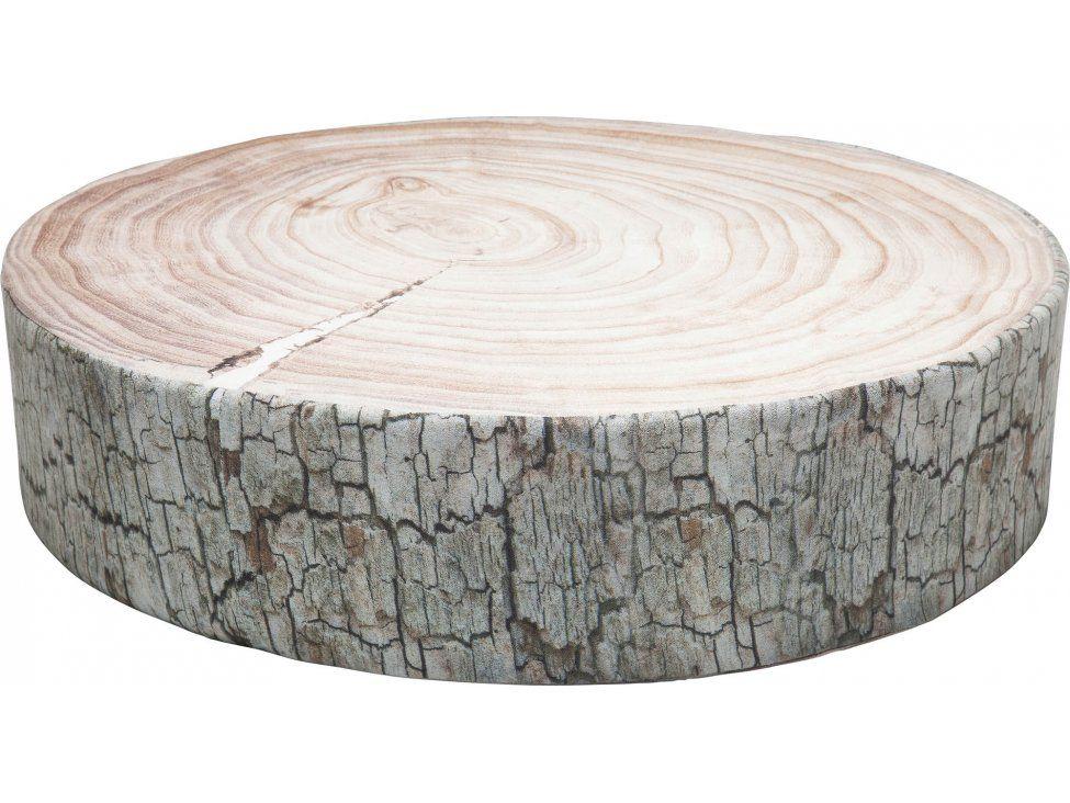 Poduszka Podłogowa Tree Ring brązowo-biała — Poduszki Kare Design — sfmeble.pl