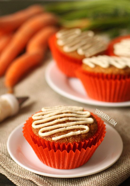 These Gluten Free And Grain Carrot Cake Cupcakes Have The Best Fluffy Texture With A Paleo Dairy Option Naturally Sweetened Honey