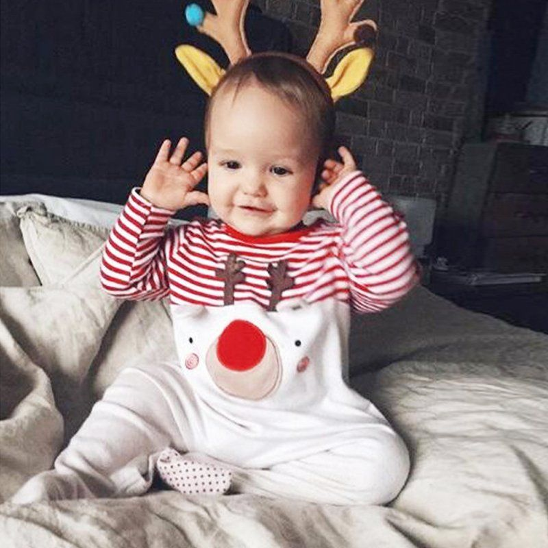 4ae44af2e Baby Romper 2018 New Santa Claus Boy Girls Baby Clothes Rompers Long ...