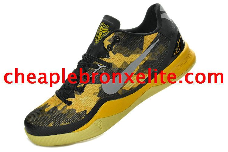 purchase cheap 9439a 253e5 Kobe 8 Shoes Playoff Poison Dart Frog Lakers Black Elite Yellow Metallic  Silver 555035 001