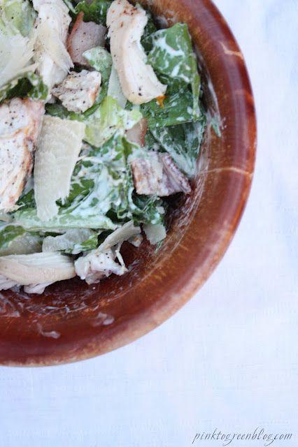 skinny chicken caesar (dressing made w/ greek yogurt ...