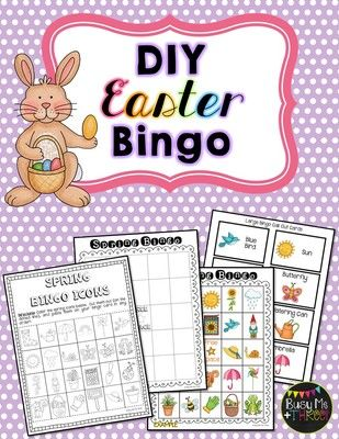 Easter diy bingo game do it yourself pinterest bingo games and easter diy bingo game do it yourself from busy me plus three on teachersnotebook solutioingenieria Gallery