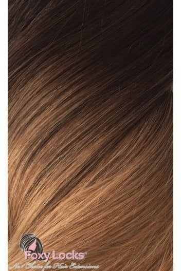 """Mocha Toffee Ombre - Regular Seamless 18"""" Clip In Human Hair Extensions 125g - from Foxy Locks Ltd UK"""