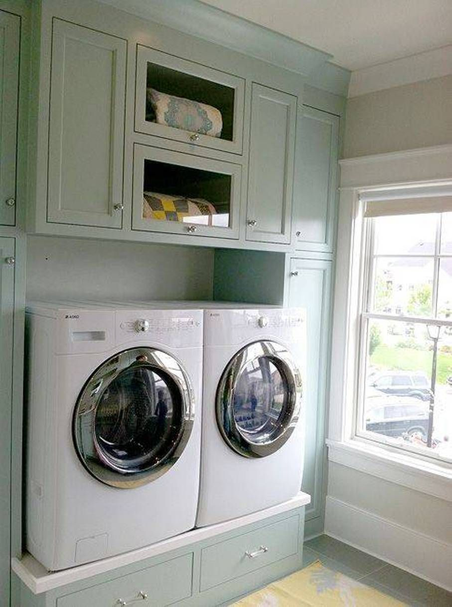 Beautiful Storage And Organization , Laundry Room Storage Cabinets Ideas : Pastel  Blue Laundry Room Storage Cabinets