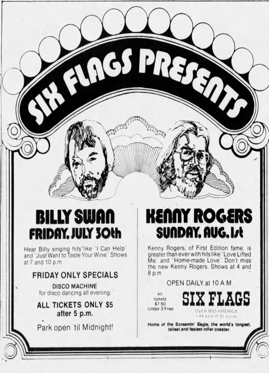Six Flags Concerts 1976 In 2020 Six Flags Italy Travel Guide Las Vegas Hotels