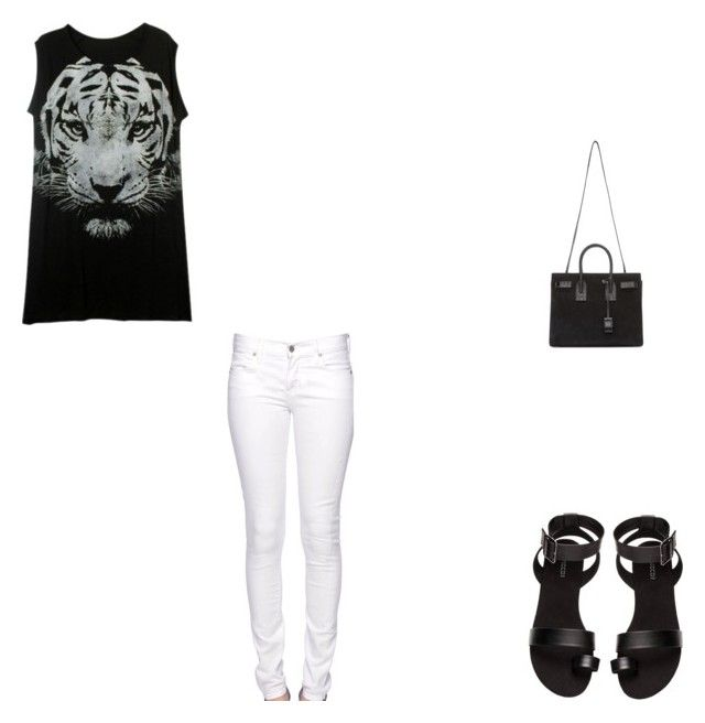 """""""Tiger"""" by puppycat0107 on Polyvore featuring Citizen of Humanity, H&M and Yves Saint Laurent"""