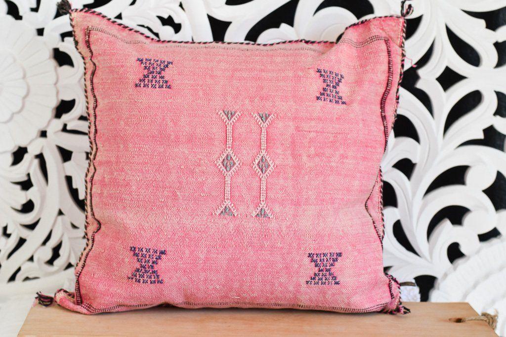 Sabra Cactus Silk Pillow Cover - Pink No. 06