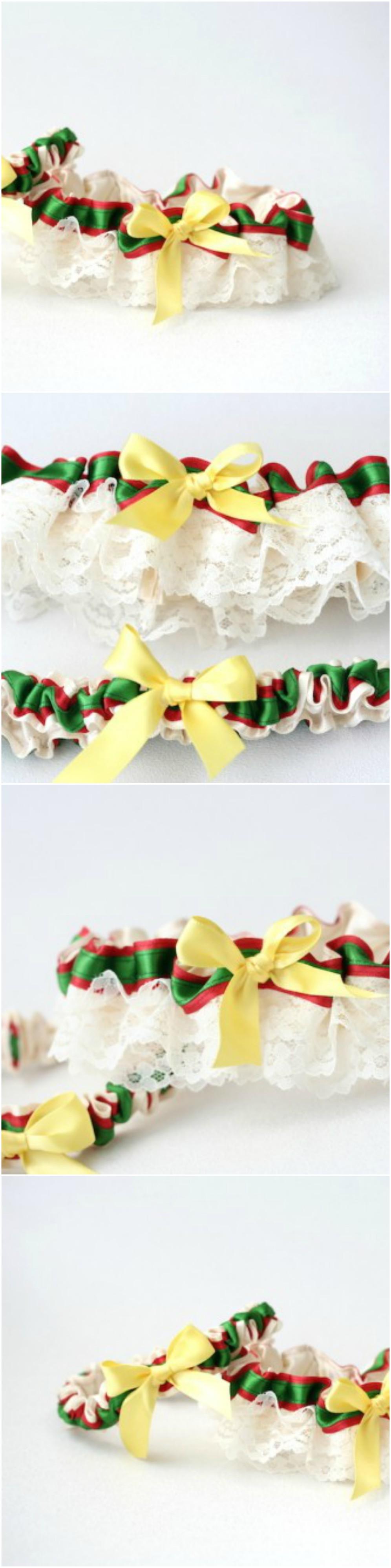 Custom Rasta Themed Wedding Garter Set-by The Garter Girl | RED ...