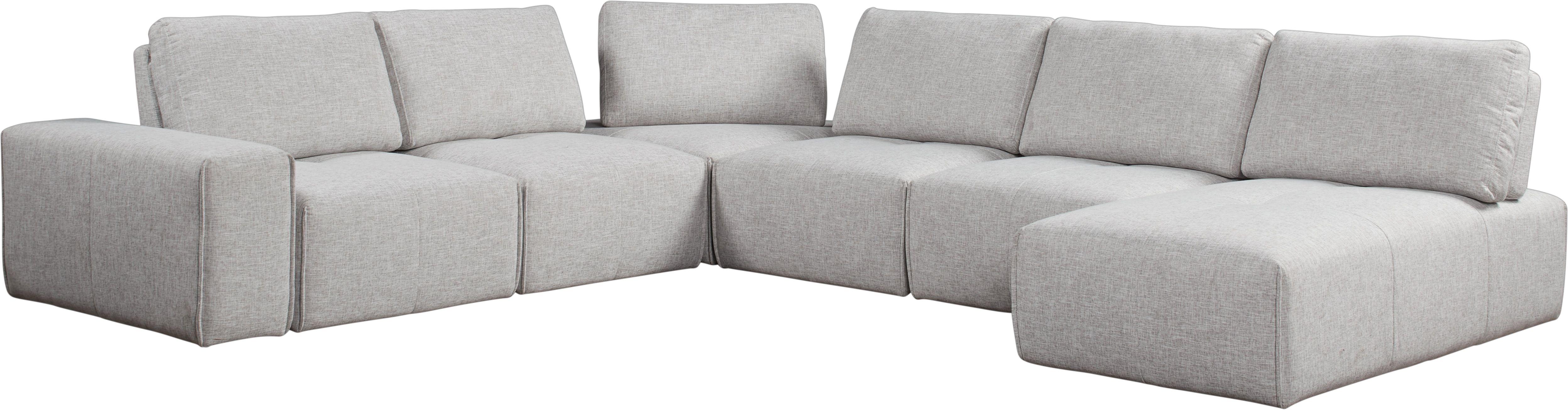 Super Laney Park Light Gray 7 Pc Sectional Inside Outside In Uwap Interior Chair Design Uwaporg