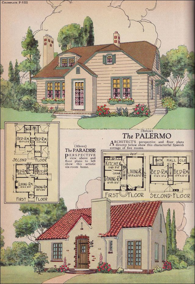 The 1926 Palermo and Paradise Plans William A Radford 1920s House Plans American Residential Architecture