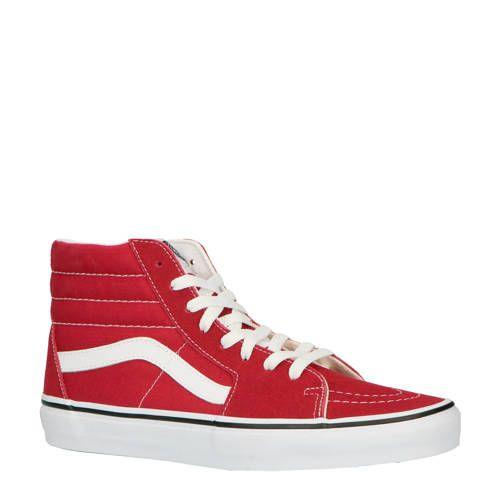 Sk8 Hi sneakers rood Busjes, Vans sneakers en Nieuwe mode