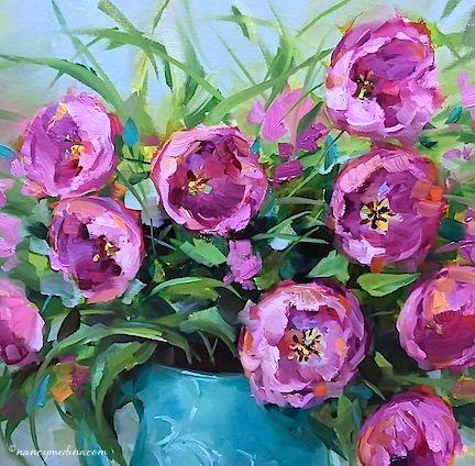 Rose Pink Tulips 16X16 sm.jpg