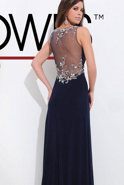 21167ed17609820 Длинные вечерние платья с вышивкой камнями на спине | Красивые ...