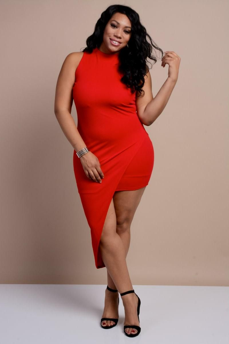 new plus size red bodycon dress 1x 2x 3x | my lovely looks and